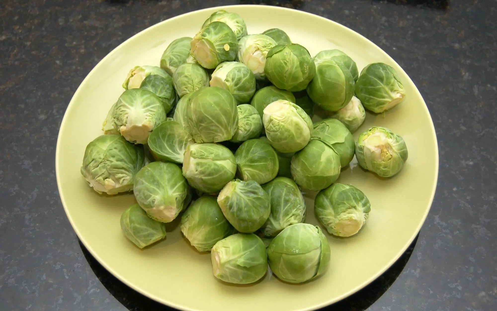 Sliced, Sauteed Brussels Sprouts with Maple Syrup