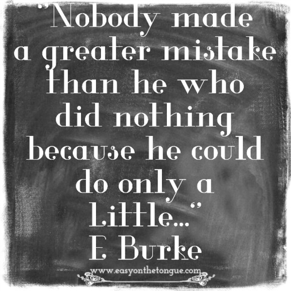 Doing good E Burke 600x600 Greatest mistakes   doing nothing at all