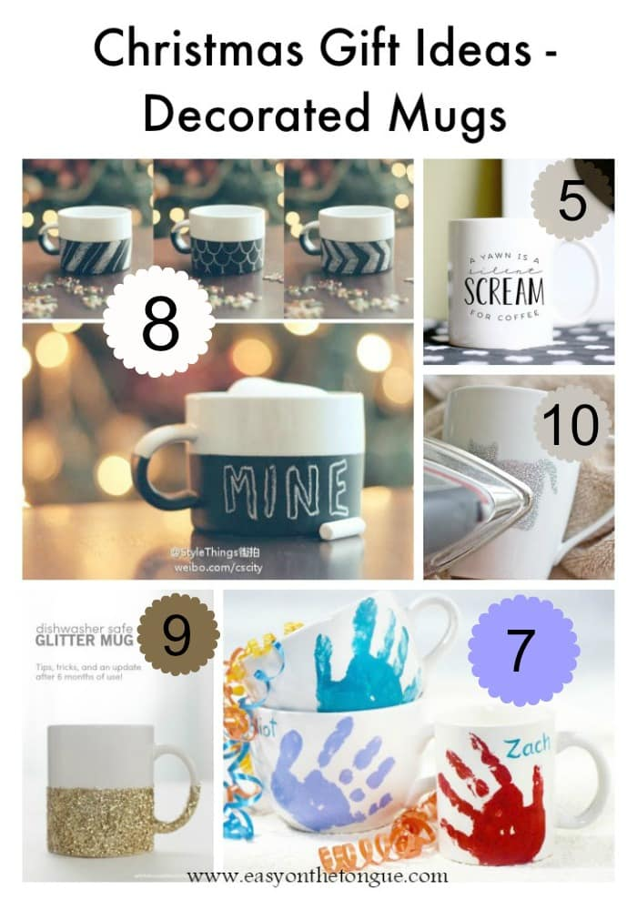 Christmas Gift Ideas 1 Christmas Gift Ideas   Decorated Mugs (Part 2)