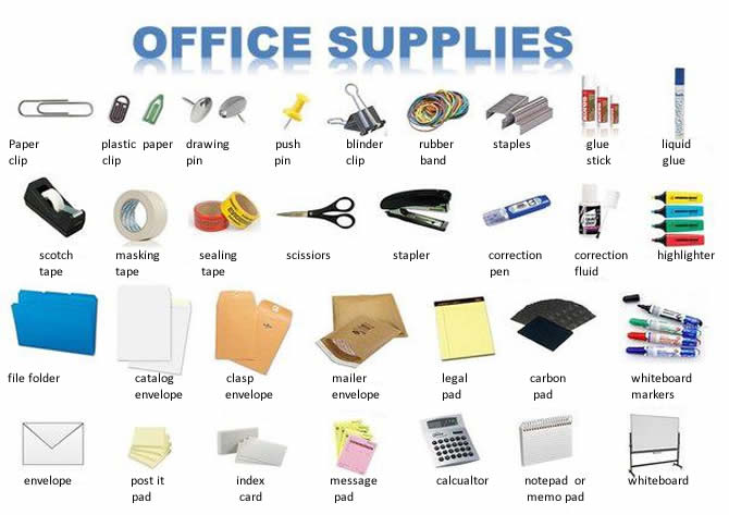 Office supplies English business lesson