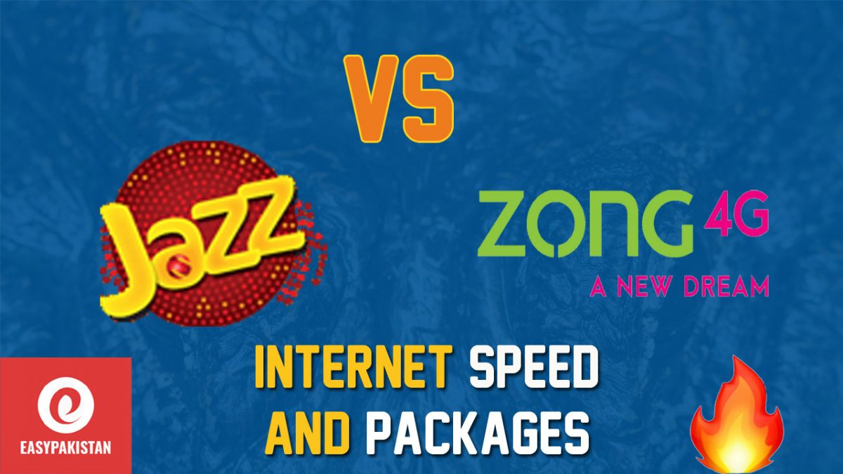 jazz vs zong internet packages