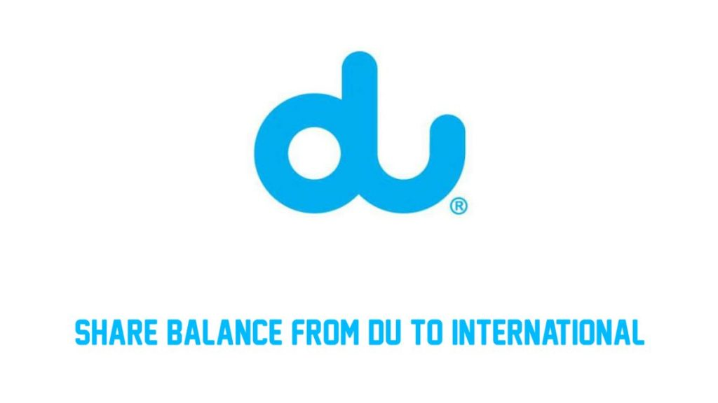 How to Share Balance from DU to Pakistan