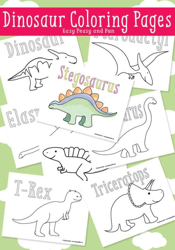 free printable dinosaur coloring pages # 13