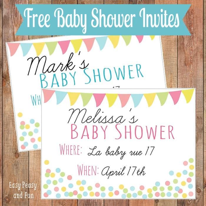 Free Girl Baby Shower Invitation Templates