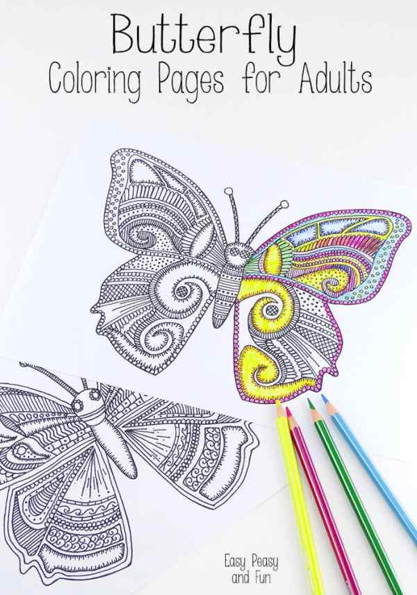 butterfly coloring pages for adults # 5