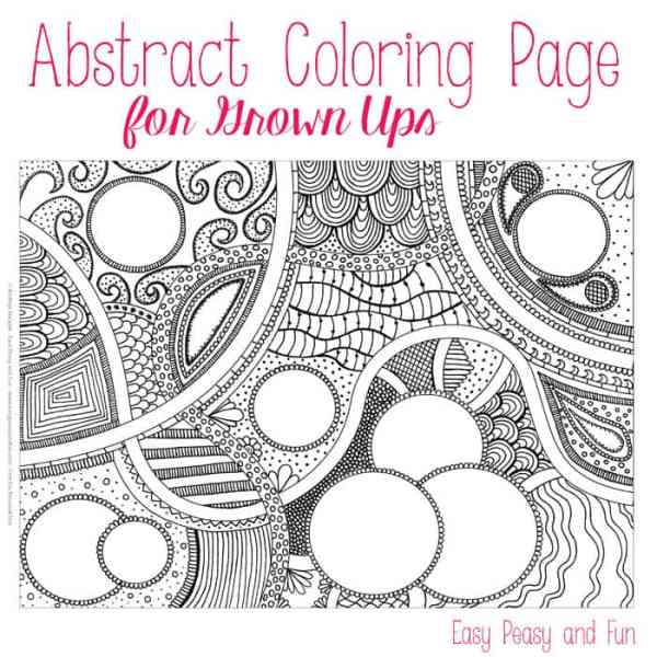 abstract coloring page # 9