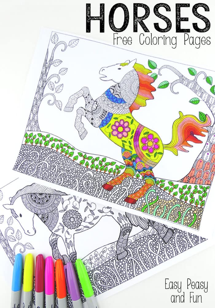 Intricate Horses Coloring Pages For Adults Easy Peasy And Fun