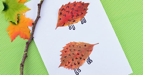 Leaf Hedgehogs Craft Easy Peasy And Fun