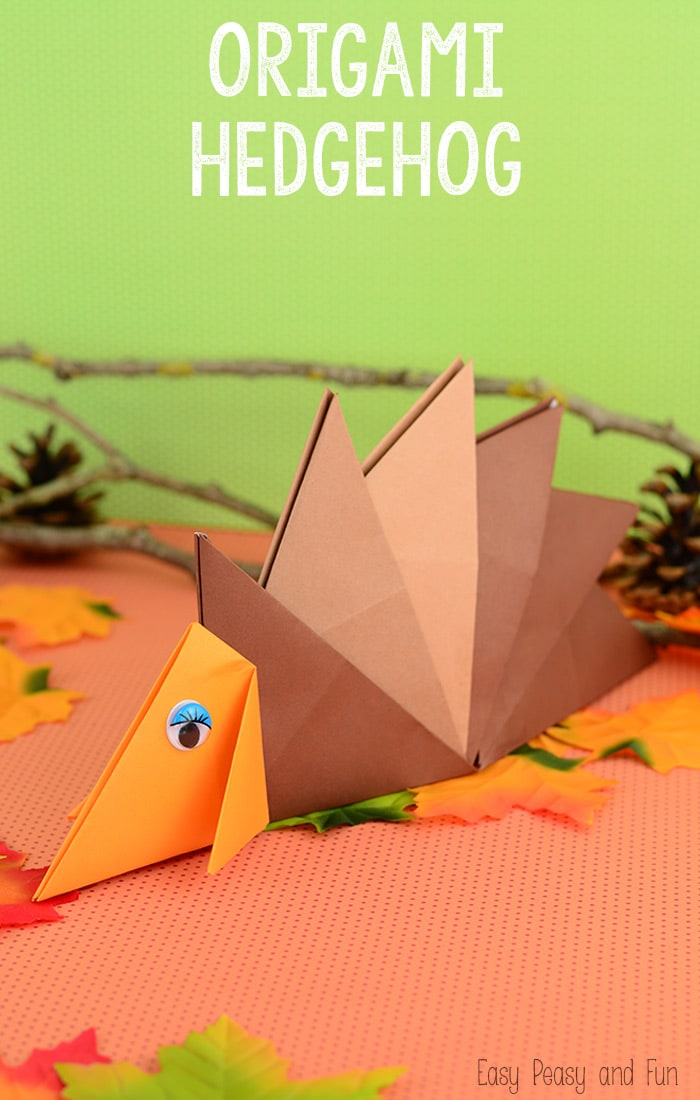 Hedgehog Origami For Kids Easy Peasy And Fun