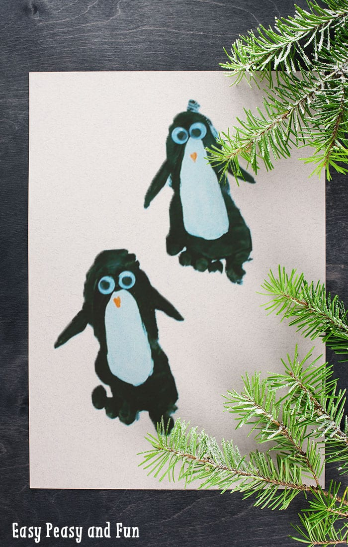 Penguin Footprint Craft Easy Peasy And Fun