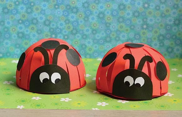 Paper Ladybug Craft Easy Peasy And Fun