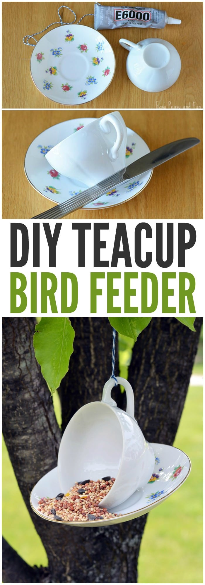 DIY Teacup Bird Feeder Easy Peasy And Fun