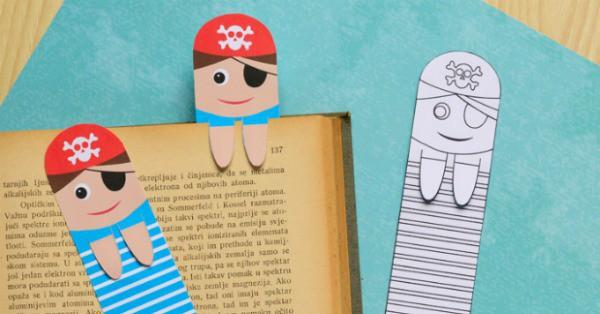 Printable Pirate Bookmarks DIY Bookmarks Easy Peasy