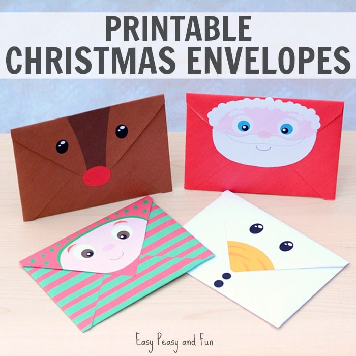 Printable Christmas Envelopes Easy Peasy And Fun