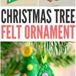 Felt Christmas Tree Ornament Easy Peasy And Fun