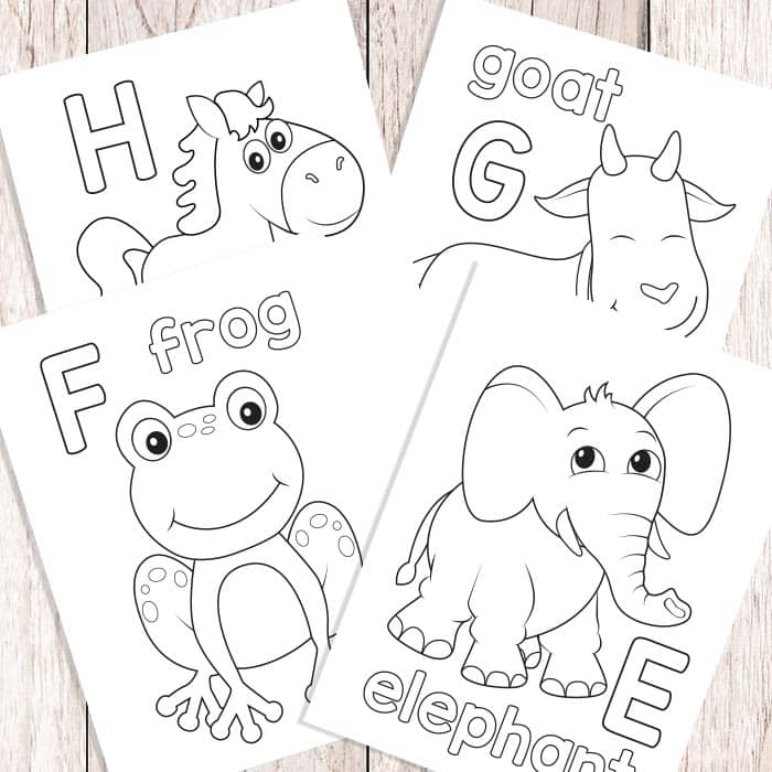 Easy Peasy Alphabet Coloring Book ABC Coloring Pages