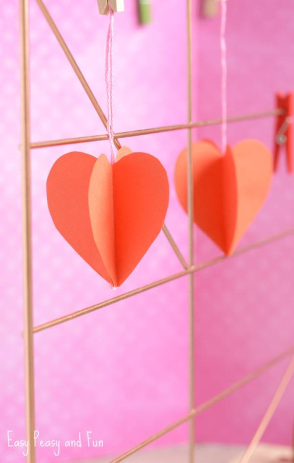 3D Paper Heart Craft - Easy Peasy and Fun