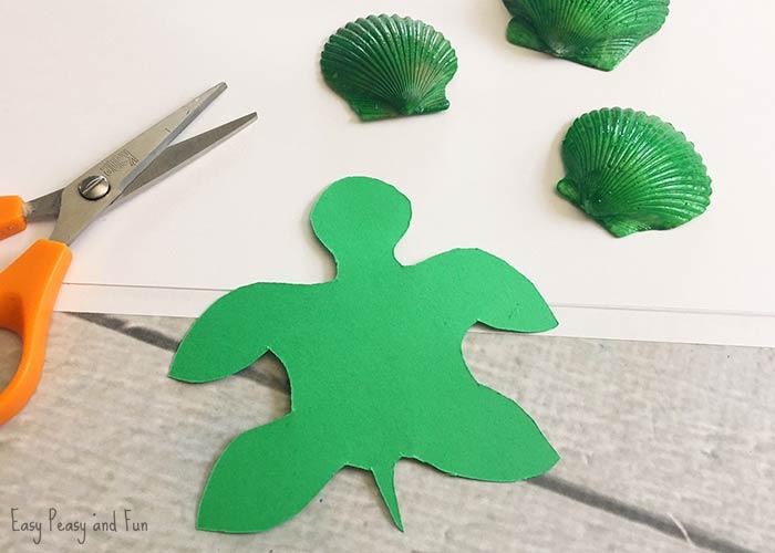 Seashell Turtle Craft Seashell Craft Ideas Easy Peasy