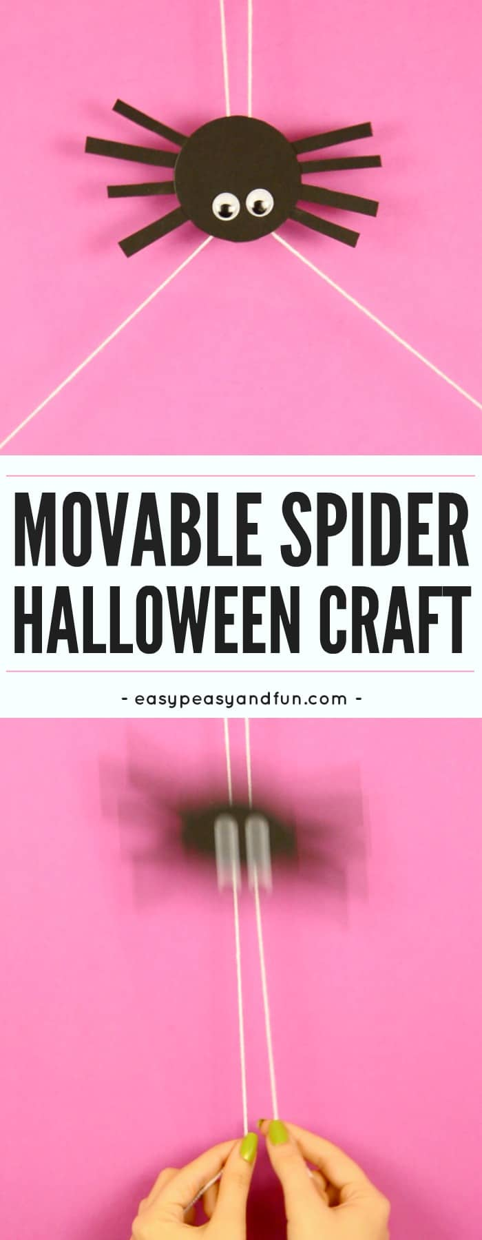 Movable Spider Craft Easy Peasy And Fun