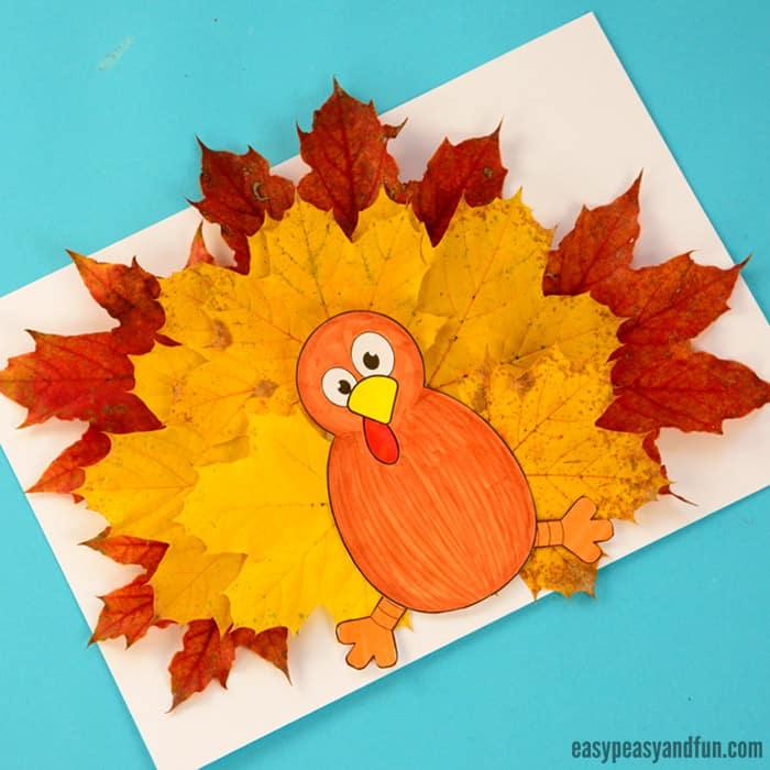 Turkey Leaf Craft Template
