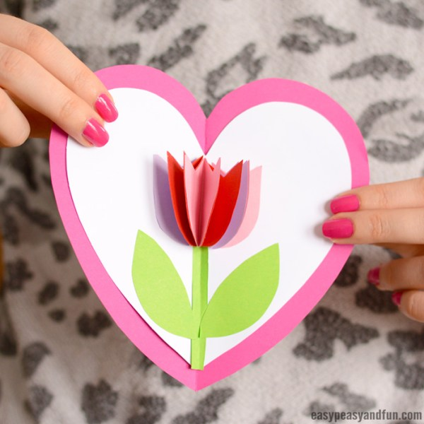 Tulip in a Heart Card - Easy Peasy and Fun