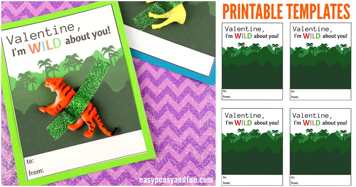 Wild About You Valentine Printable Easy Peasy And Fun