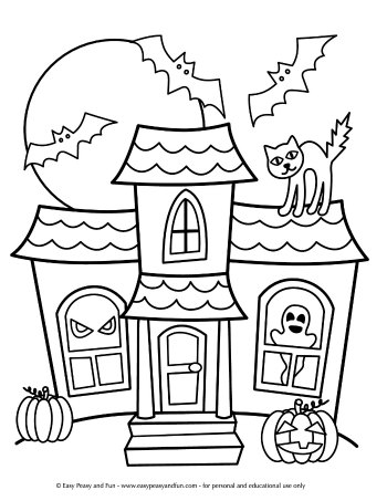 coloring halloween pages # 9
