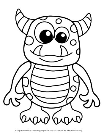 Halloween Coloring Pages - Easy Peasy and Fun