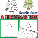 How To Draw A Christmas Tree Step By Step Drawing Tutorial Easy Peasy And Fun