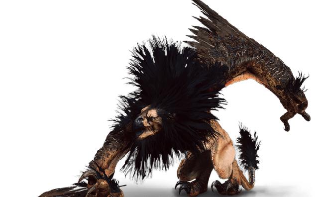 Greif aus Witcher 3 Wild Hunt Bestiarium