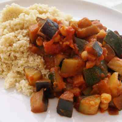 Chickpea Ratatouille and Couscous