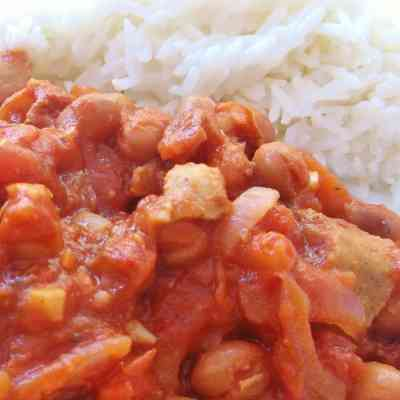 Quorn Sausage and Bean Casserole
