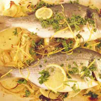 Sea Bream with Fennel and Potatoes