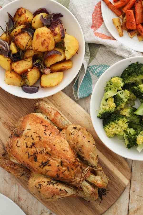 Simple Roast Chicken and Easy Peasy Gravy