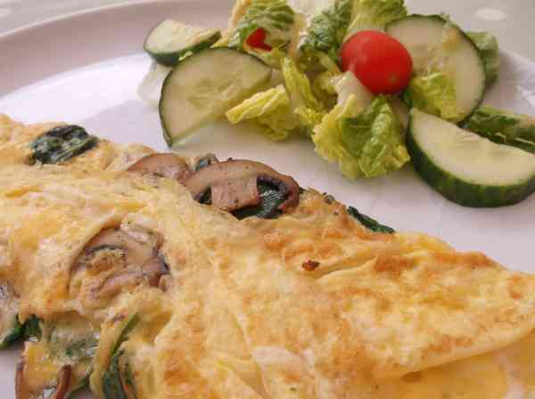 Spinach and Mushroom Omelette