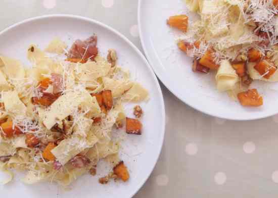 Butternut Squash and Prosciutto Pasta