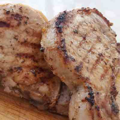Pork Chops with Lemon and Oregano