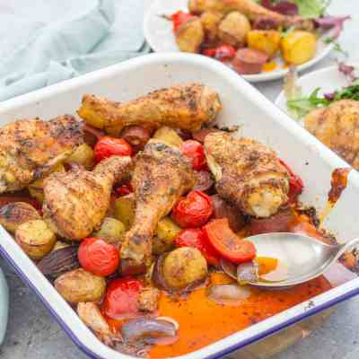 Spanish Style Chicken Traybake