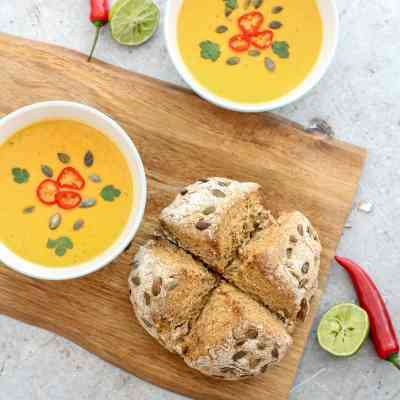 Butternut Squash, Chilli and Coconut Milk Soup (Vegan)