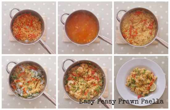Easy Peasy Prawn Paella Collage 2