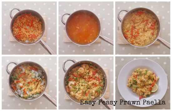 Easy Peasy Prawn Paella Collage 2