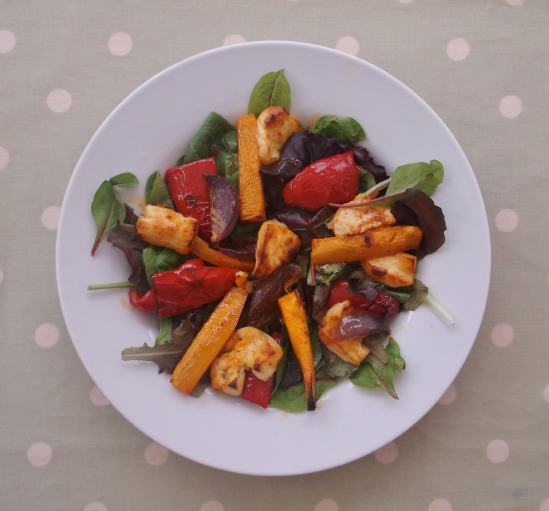 Warm Butternut Squash, Harissa and Halloumi Salad 5