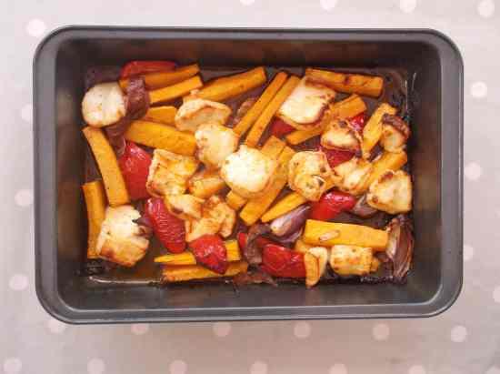 Warm Butternut Squash, Harissa and Halloumi Salad 9