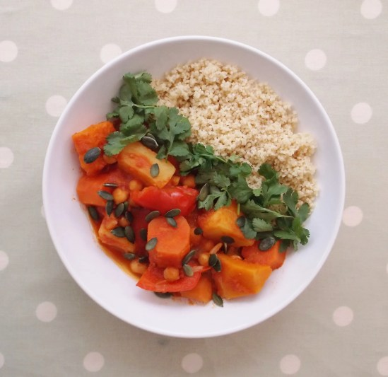 Quick Root Veg and Chickpea Tagine