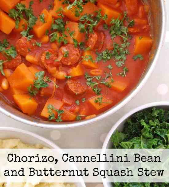 Chorizo, Cannellini Bean and Butternut Squash Stew