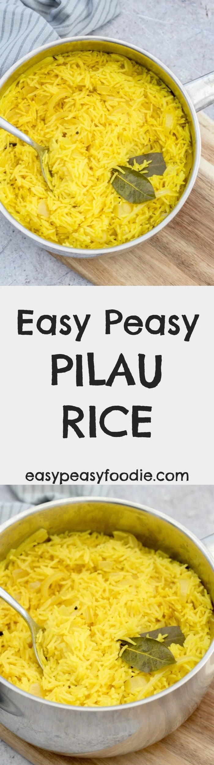 Love pilau rice, but always thought it would be too complicated to make at home? Think again! My Easy Peasy Pilau Rice is super quick and simple to make, even more delicious than the shop bought stuff…and best of all, the kids LOVE mummy's yellow rice #pilaurice #indianrice #spicyrice #rice #yellowrice #under20minutes #side #sidedish #vegetarian #glutenfree #easyrecipes #easypeasyfoodie #fakeaway