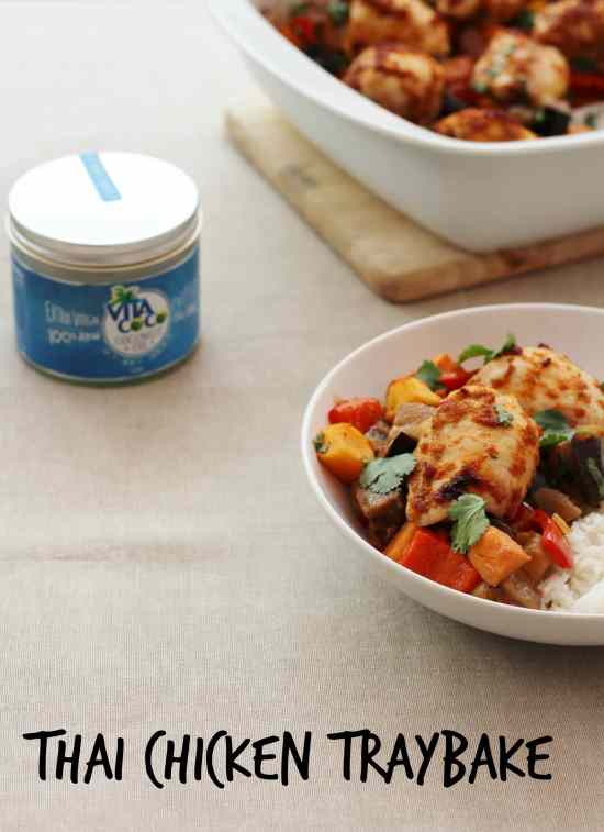 Thai Chicken Traybake and Vita Coco Coconut Oil