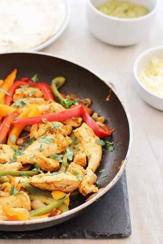 Homemade Chicken Fajitas