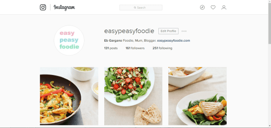 Easy Peasy Foodie Instagram