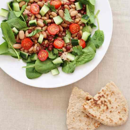 Tuna Bean Spinach Salad